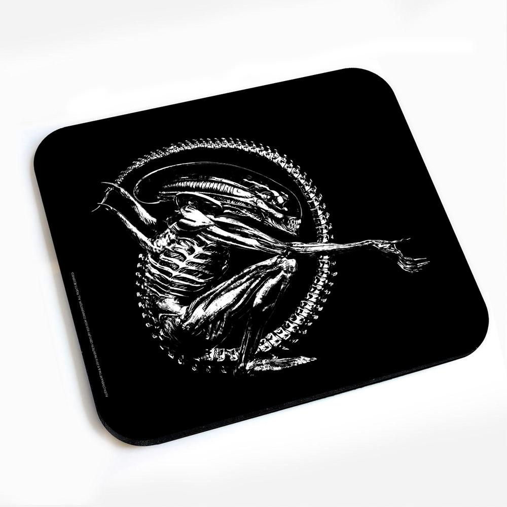 Alien Black Logo Mousepad