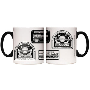 Alien Black and White Logo Transforming Mug