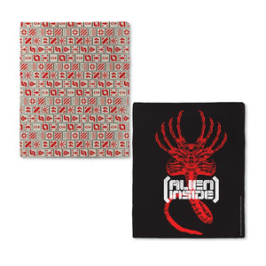 "Alien ""Alien Inside"" Red and Black Fleece Blanket"