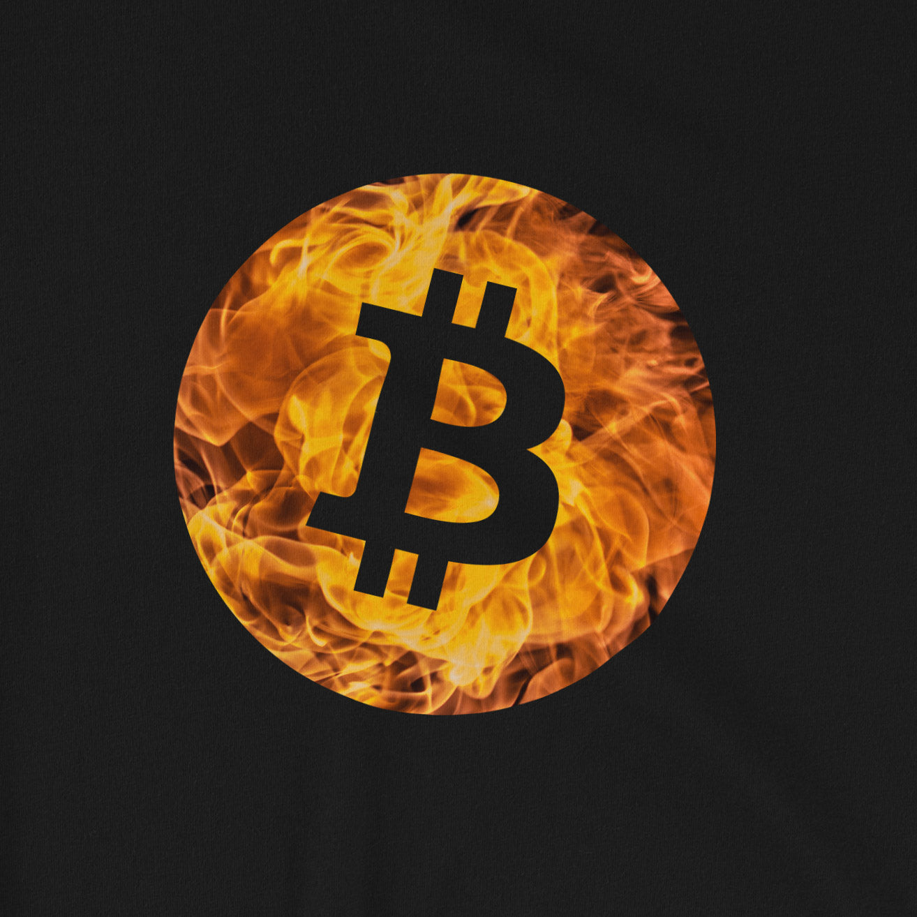 Bitcoin fire T-Shirt | Pattern collection - CryptoShirt.io
