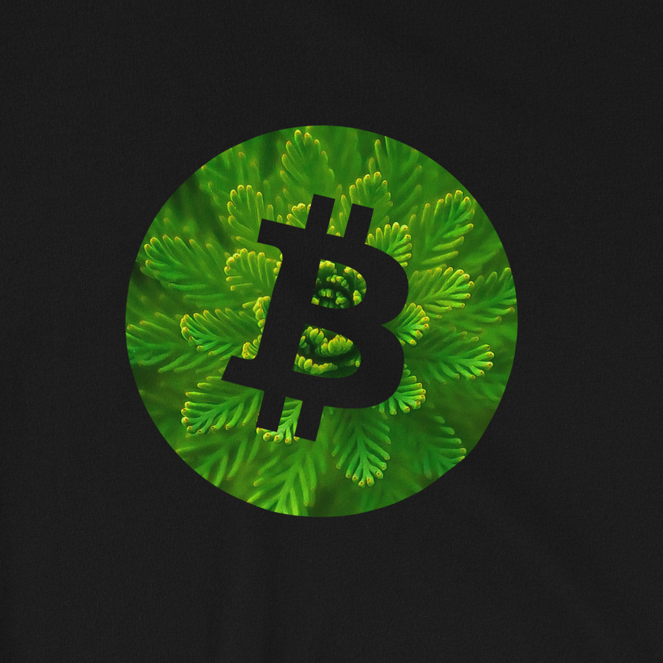 Bitcoin plant T-Shirt | Pattern collection - CryptoShirt.io