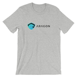 Aragon T-Shirt | Color logo (black) - CryptoShirt.io