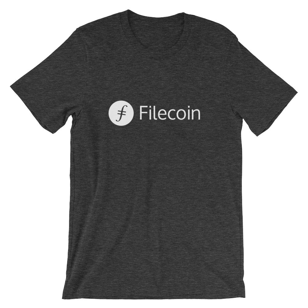 Filecoin T-Shirt | White logo - CryptoShirt.io
