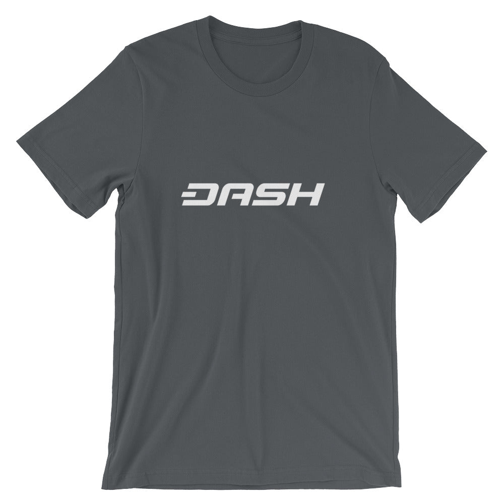 Dash T-shirt | White logo - CryptoShirt.io