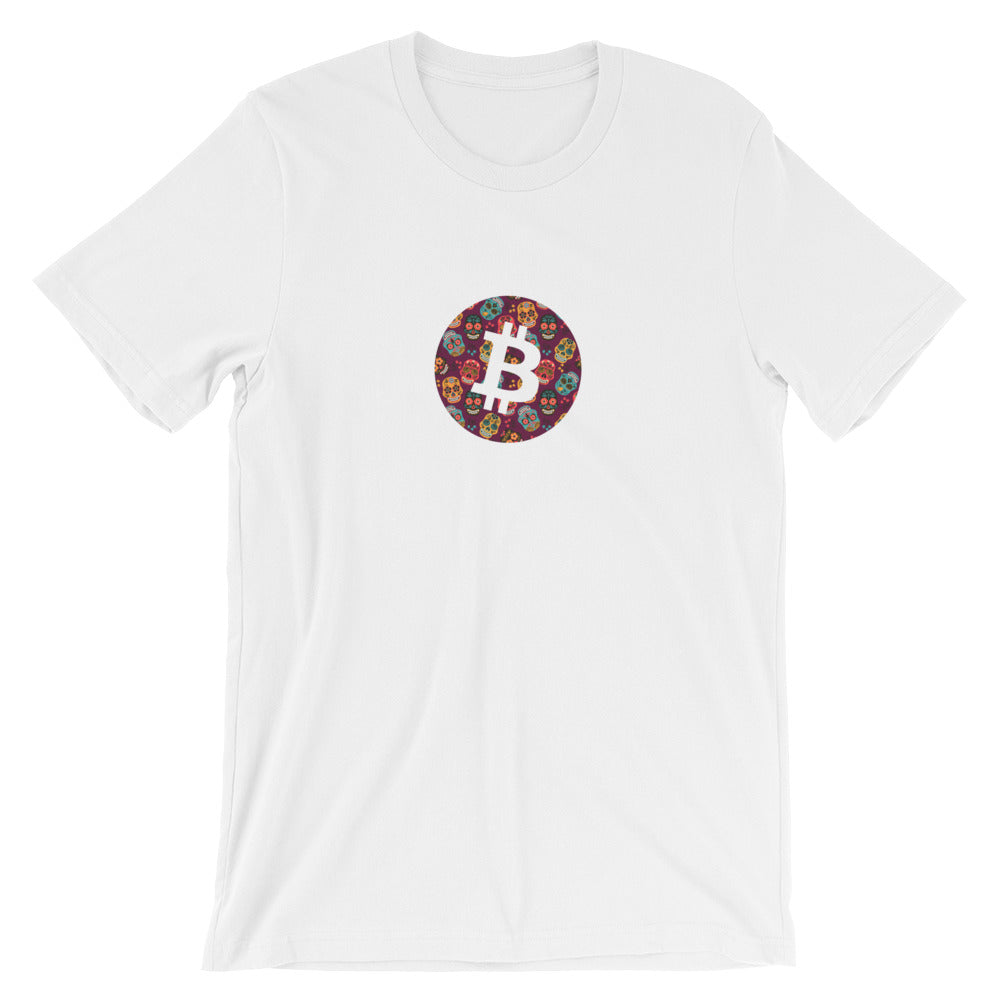 Bitcoin mexican skull T-Shirt | Pattern collection - CryptoShirt.io