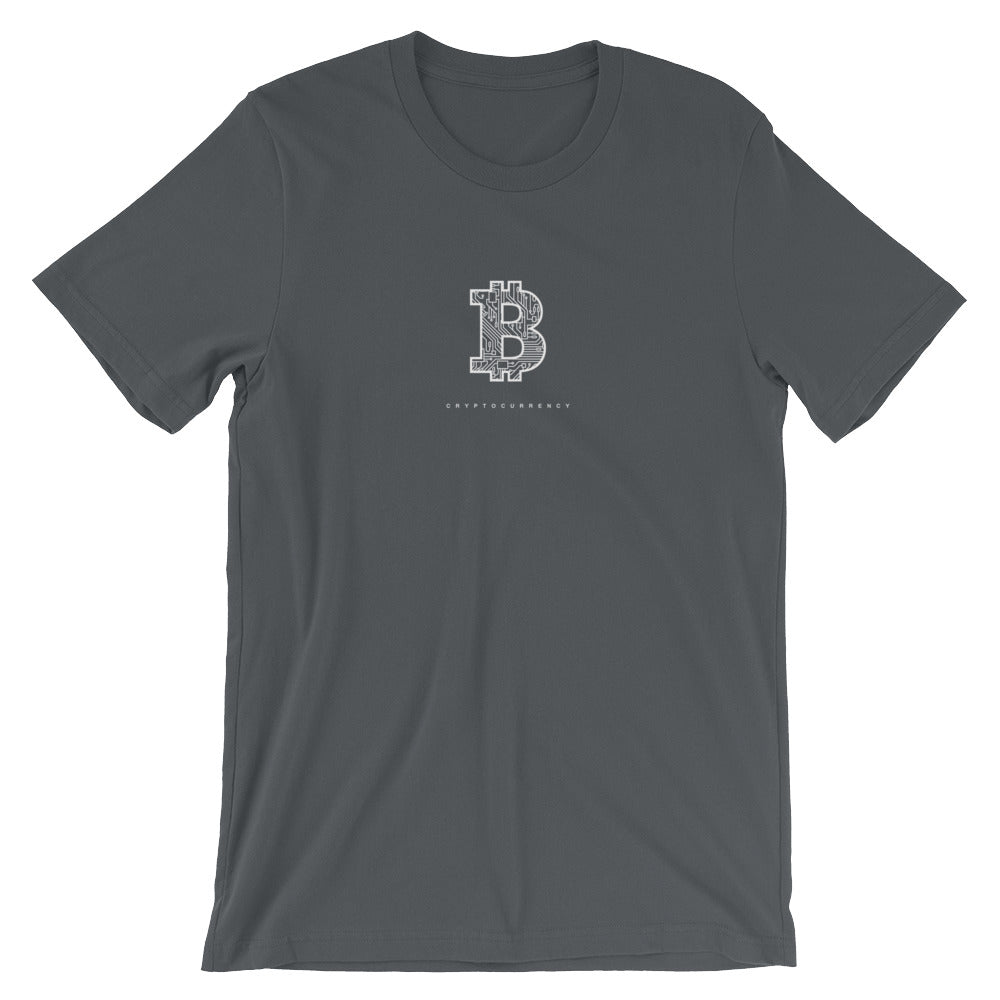 Bitcoin cryptocurrency microcircuit T-Shirt - CryptoShirt.io