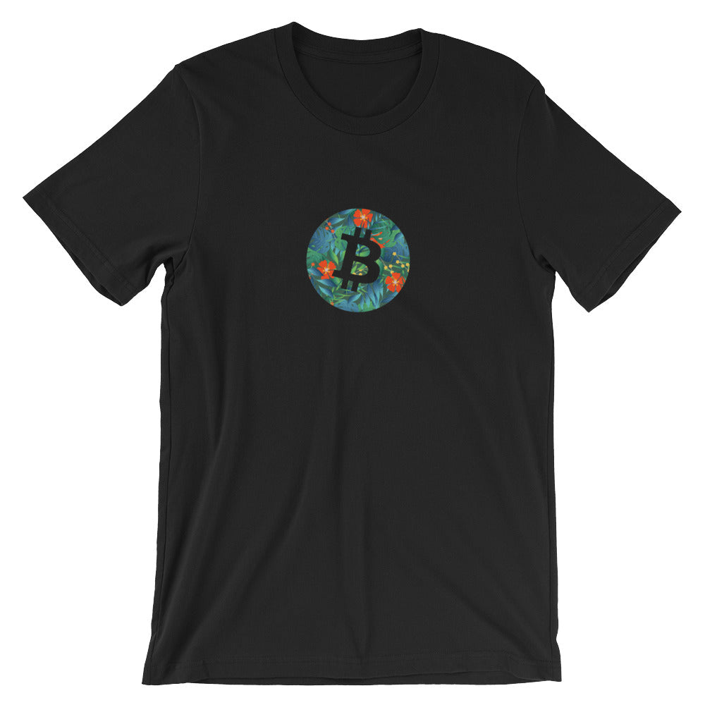 Bitcoin tropical T-Shirt | Pattern collection - CryptoShirt.io