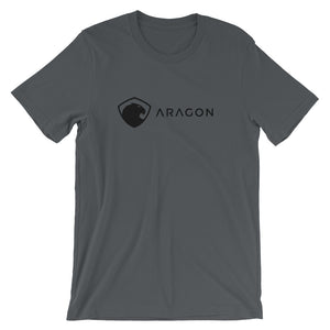 Aragon T-Shirt | Black logo - CryptoShirt.io