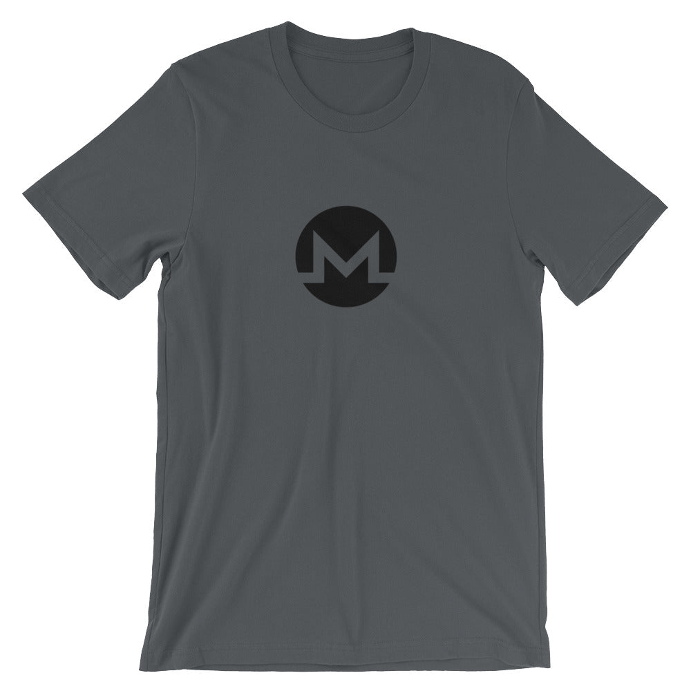 Monero T-Shirt | Black logo - CryptoShirt.io