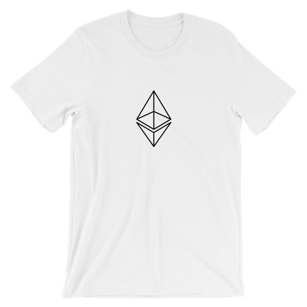 Ethereum T-Shirt | Black logo outline - CryptoShirt.io