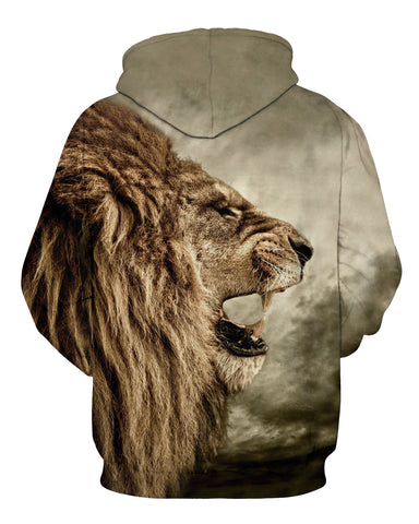 Winter Fashion Lion Ancient Men/Women Hooded Hoodies Cap
