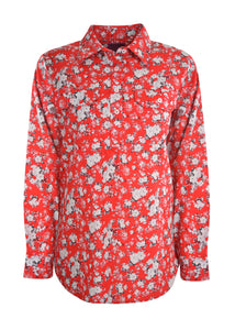 Womens Hard Slog Shirt Red