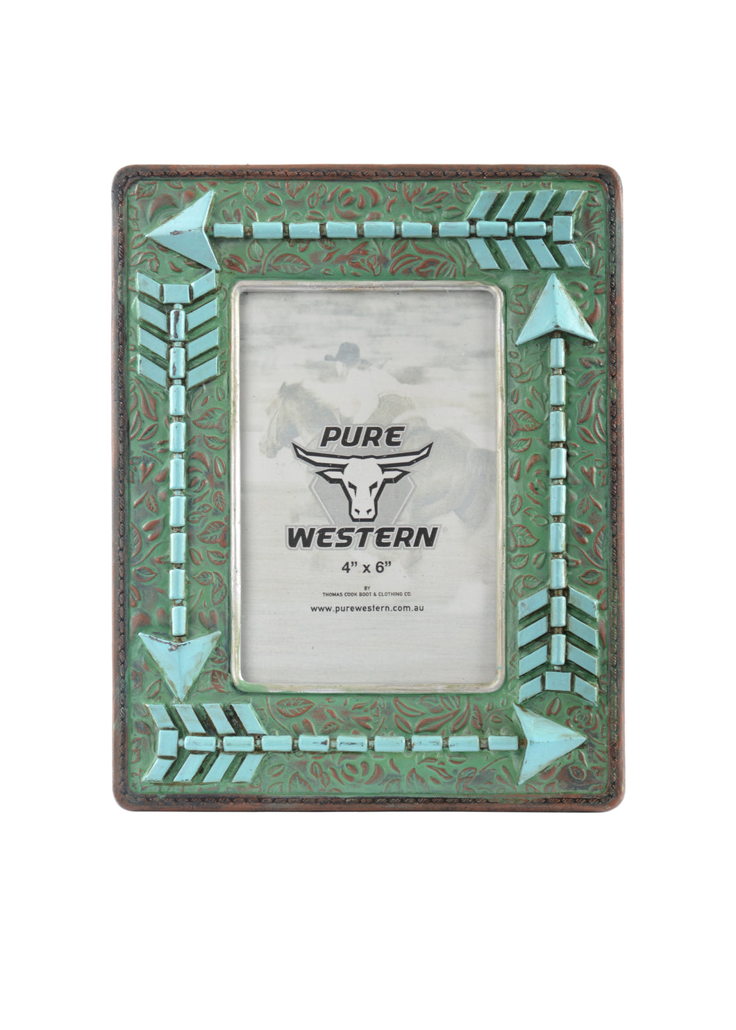 Turquoise Arrow Picture Frame ~ By Pure Western