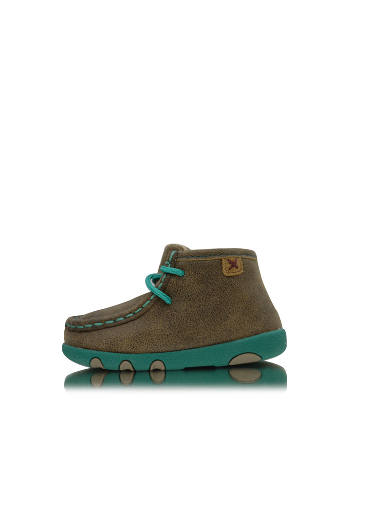 Infants Casual Mocs - Bomber / Turquoise