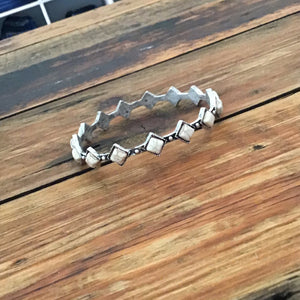 The Diamond Belle Bracelet ~ White