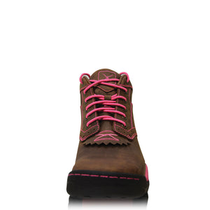 Twisted X Lace Up Boots - Pink