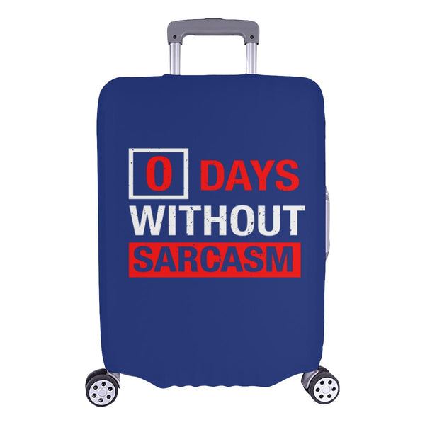 "0 Days Without Sarcasm Sarcastic Travel Luggage Cover Suitcase Protector 18""-28""-L-Navy-JoyHip.Com"