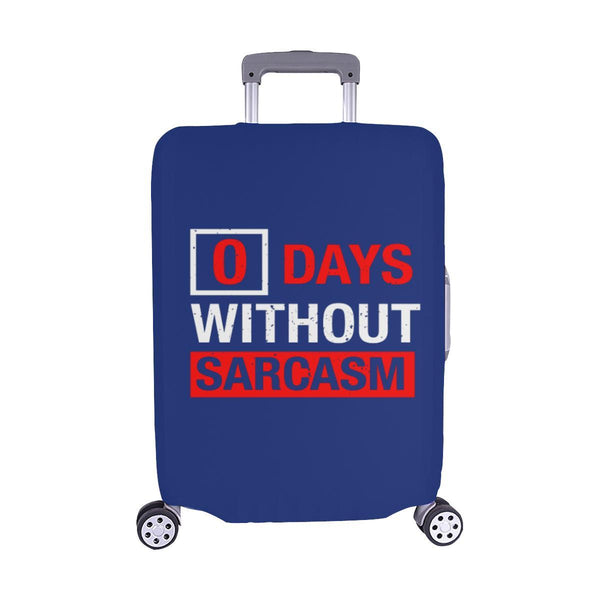 "0 Days Without Sarcasm Sarcastic Travel Luggage Cover Suitcase Protector 18""-28""-M-Navy-JoyHip.Com"