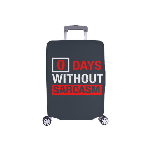 "0 Days Without Sarcasm Sarcastic Travel Luggage Cover Suitcase Protector 18""-28""-S-Grey-JoyHip.Com"