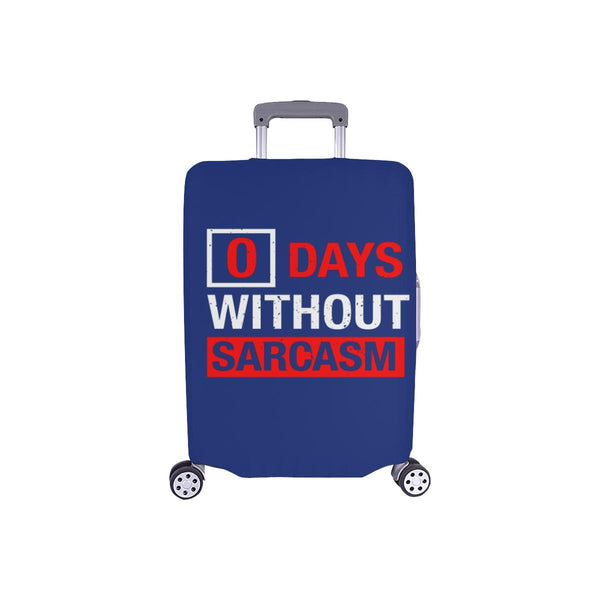 "0 Days Without Sarcasm Sarcastic Travel Luggage Cover Suitcase Protector 18""-28""-S-Navy-JoyHip.Com"