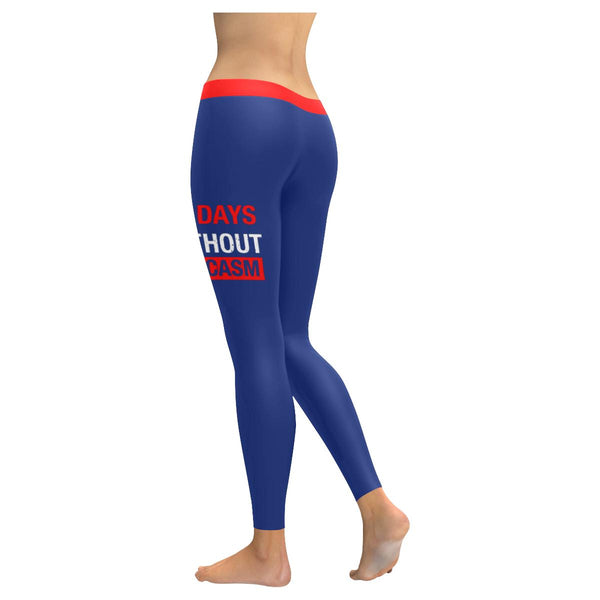 0 Days Without Sarcasm Soft Leggings For Women Cool Cute Funny Sarcastic Gifts-JoyHip.Com