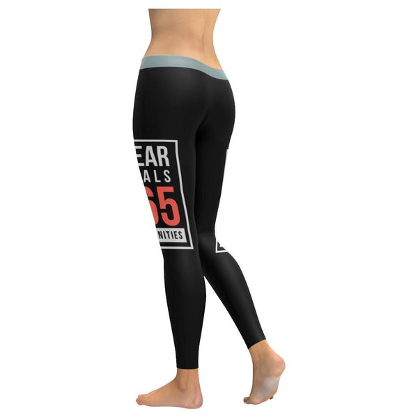 1 Year Equals 365 Opportunities Inspirational Motivational Quote Womens Leggings-JoyHip.Com