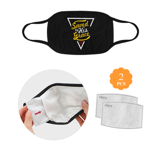 Saved By His Grace Christian Washable Reusable Face Mask With Filter Pocket