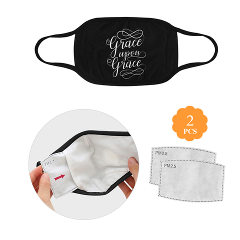 Grace Upon Grace Christian Washable Reusable Face Mask With Filter Pocket