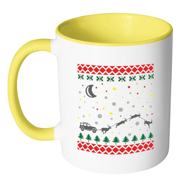 4X4 Jeep Wrangler Off Road Ugly Christmas Sweater 11oz Accent Coffee Mug (7 Colors)-Drinkware-JoyHip.Com