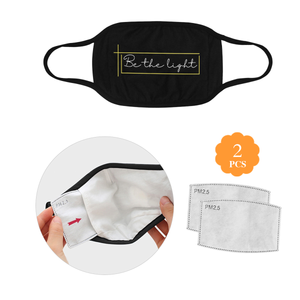 Be The Light Christian Washable Reusable Face Mask With Filter Pocket