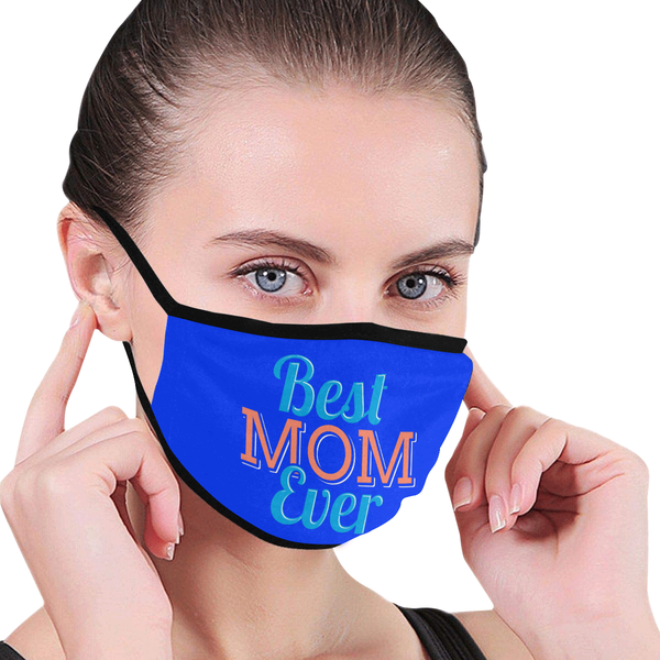 Best Mom Ever Unique Mothers Day Washable Reusable Face Mask With Filter Pocket