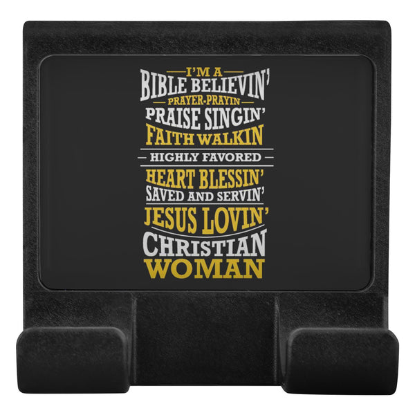 A Bible Believin' Jesus Lovin Christian Woman Cell Phone Monitor Holder Laptop-Moniclip-Moniclip-JoyHip.Com