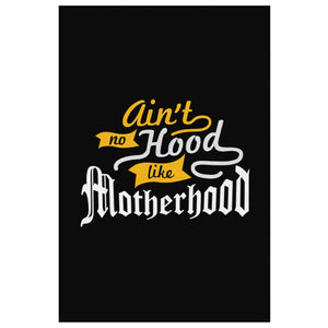 Aint No Hood Like Motherhood Funny Cute Mothers Day Canvas Wall Art Room Decor-Canvas Wall Art 2-8 x 12-JoyHip.Com
