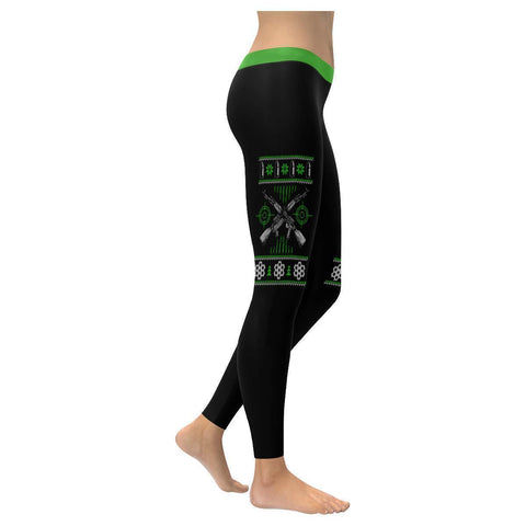 AK47 Rifle Gun Ammo 2nd Amendment Funny Gift Idea Ugly Christmas Womens Leggings-XXS-Black-JoyHip.Com