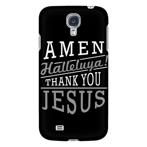 Amen Halleluya! Thank You Jesus iPhone 6/6s/7/7s/8 Plus Case Christian Bible Verses Inspirational Scripture Quote-Phone Cases-Galaxy S4-JoyHip.Com