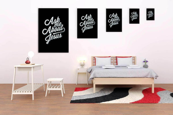 Ask Me About Jesus Christian Canvas Wall Art Room Decor Gift Religious Spiritual-Canvas Wall Art 2-JoyHip.Com