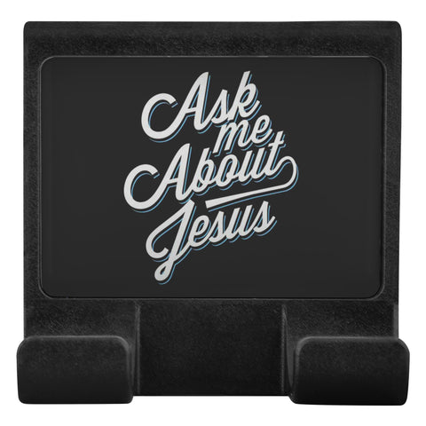 Ask Me About Jesus Christian CellPhone Monitor Holder For Laptop Desktop Display-Moniclip-Moniclip-JoyHip.Com