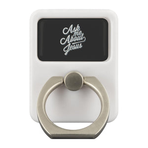 Ask Me About Jesus Christian Phone Ring Holder Religious Kickstand Spiritual-Ringr - Multi-Tool Accessory-Ringr - Multi-Tool Accessory-JoyHip.Com