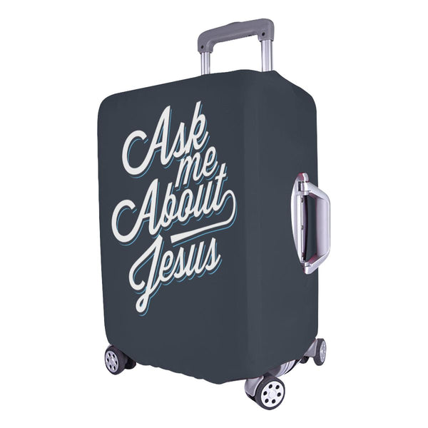 "Ask Me About Jesus Christian Travel Luggage Cover Suitcase Protector Fit 18""-28""-JoyHip.Com"