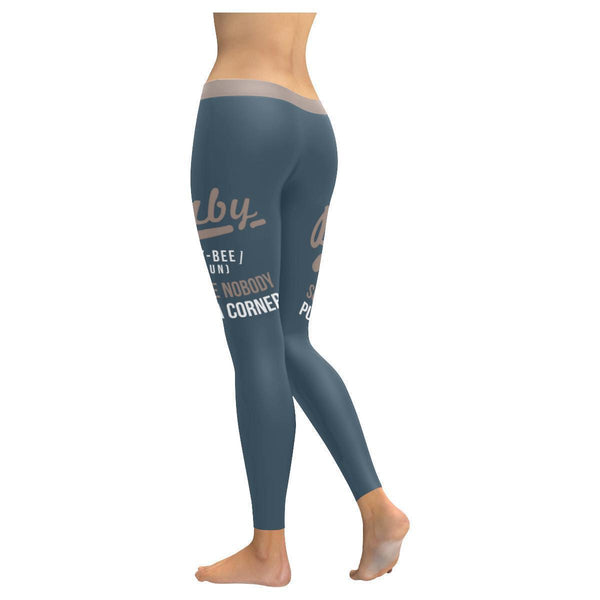 Baby Bey-Bee(Noun) Someone Nobody Puts In A Corner Humor Funny Quotes Leggings-JoyHip.Com