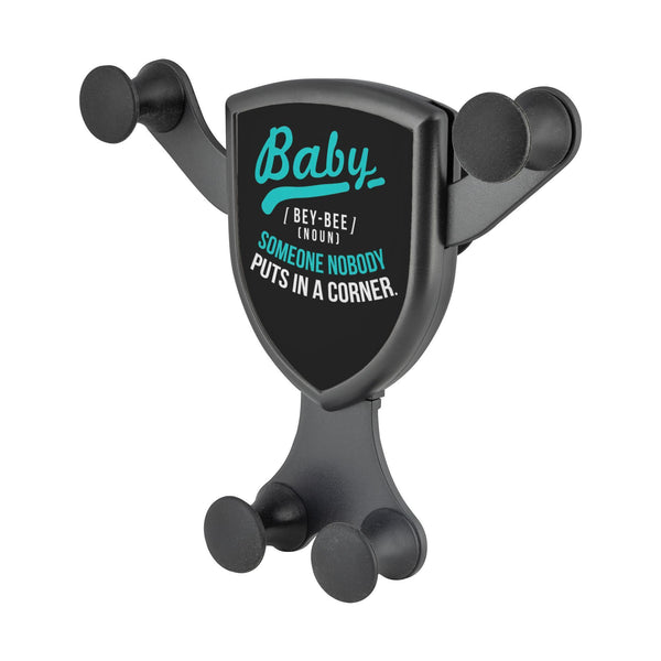 Baby Definition BeyBee Noun Someone Nobody Put In Corner Qi Wireless Car Charger-Gravitis Car Charger-Gravitis - Wireless Car Charger-JoyHip.Com