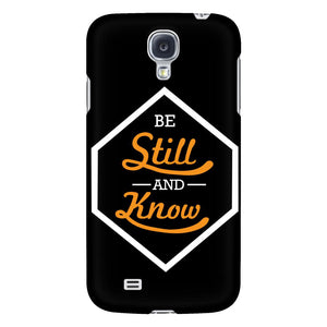 Be Still And Know iPhone 6/6s/7/7s/8 Plus Case Christian Bible Verses Inspirational Scripture Quote-Phone Cases-Galaxy S4-JoyHip.Com