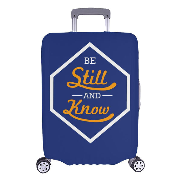 Be Still & Know Christian Travel Luggage Cover Suitcase Protector Fits 18-28 Inch-L-Navy-JoyHip.Com
