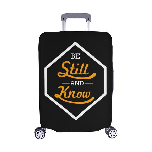 Be Still & Know Christian Travel Luggage Cover Suitcase Protector Fits 18-28 Inch-M-Black-JoyHip.Com