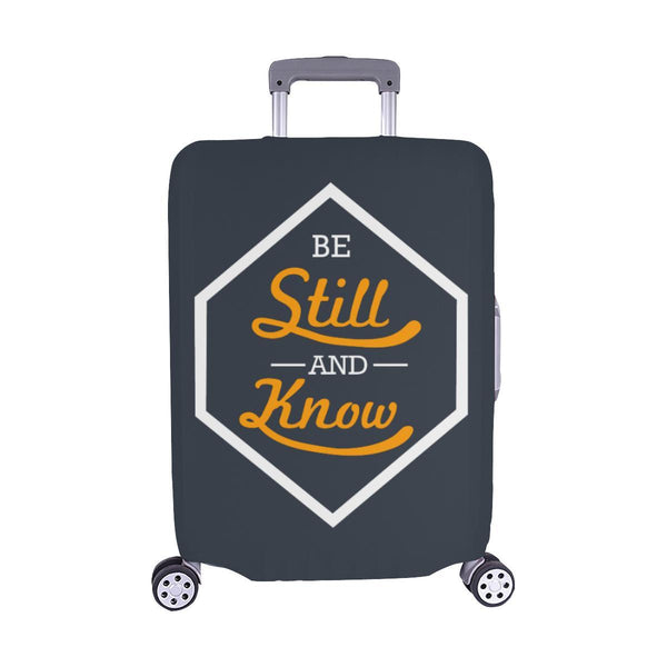 Be Still & Know Christian Travel Luggage Cover Suitcase Protector Fits 18-28 Inch-M-Grey-JoyHip.Com