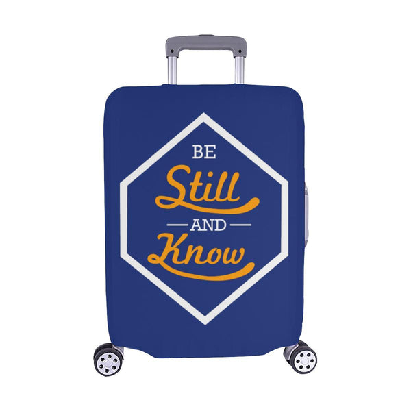 Be Still & Know Christian Travel Luggage Cover Suitcase Protector Fits 18-28 Inch-M-Navy-JoyHip.Com