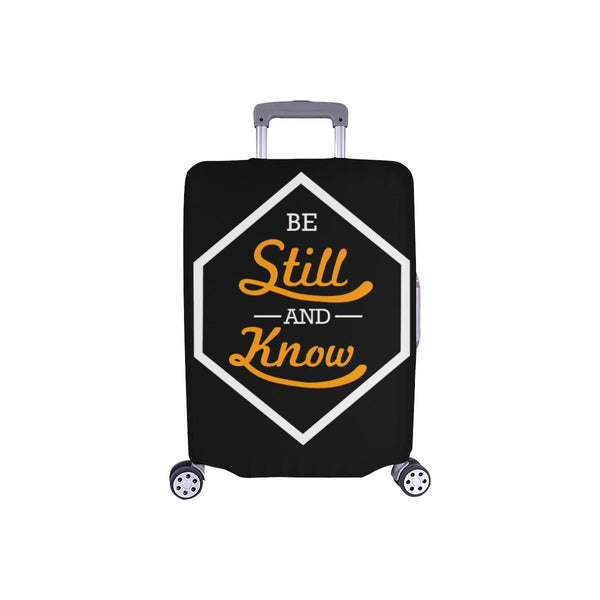 Be Still & Know Christian Travel Luggage Cover Suitcase Protector Fits 18-28 Inch-S-Black-JoyHip.Com