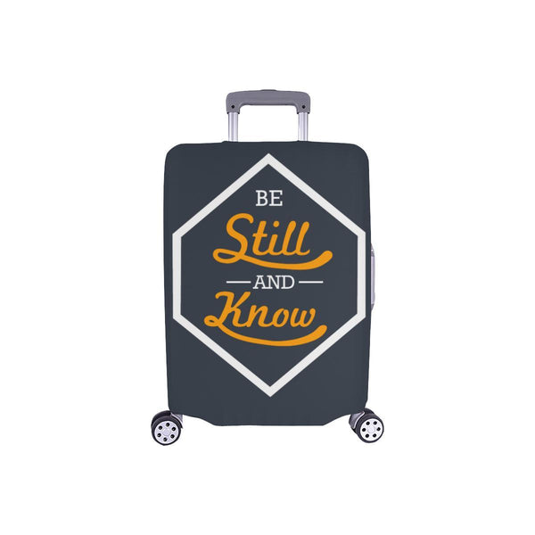 Be Still & Know Christian Travel Luggage Cover Suitcase Protector Fits 18-28 Inch-S-Grey-JoyHip.Com