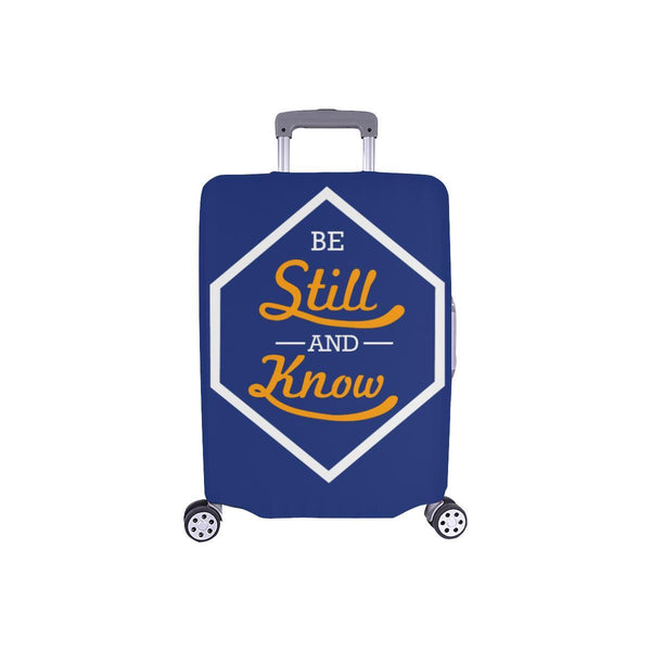 Be Still & Know Christian Travel Luggage Cover Suitcase Protector Fits 18-28 Inch-S-Navy-JoyHip.Com