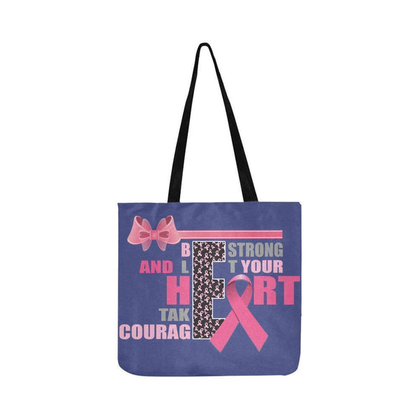 Be Strong Let Your Heart Take Courage Breast Cancer Grocery Reusable Produce Bag-One Size-Orchid-JoyHip.Com